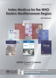 A poster displaying images of some of the current content of the Index Medicus for the WHO Eastern Mediterranean Region